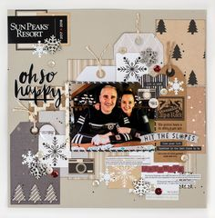 @CSMscrapbooker posted to Instagram: So love this layout designed by Ronda Ivens!!!! Love how she used tags and pieces of a pamphlet for embellishments! Thanks for sharing with us!!!!  #rondaivens #sunpeaks #winterlayout #skilayout #recycle #ohsohappy  #12X12layouts #scrapbookinglayout #csmscrapbooker #creativescrapbookermagzine #creativescrapbooker #createeveryday #creative #scrapbookingideas #scrapbookingandcards #scrapbookingmagazine #visualcrush #photosinbetween #abmlifeisbeautiful #papercra Scrapbook Sketches, Scrapbook Page Layouts, Scrapbook Pages, Scrapbooking Ideas, Snow Fun, Winter Snow, Sketch Paper, Christmas Scrapbook, December Daily