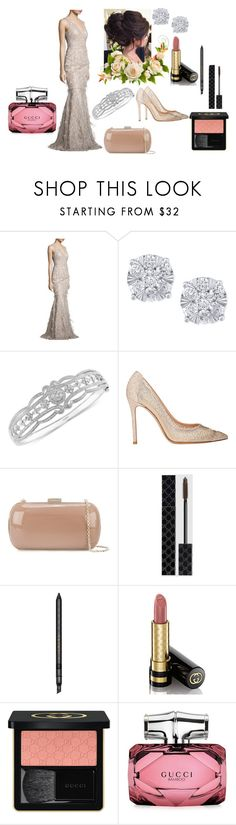 """""""Untitled #445"""" by vintagelady52 ❤ liked on Polyvore featuring David Meister, Effy Jewelry, Gianvito Rossi, Sergio Rossi and Gucci"""