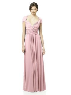 Twist Wrap Dress: Long http://www.dessy.com/dresses/twist-long/?color=Chalk Pink=1199#.UiKfsX8o7cu