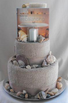 Cake, Centerpiece, Ceremony, Bridesmaids, Bridal, Gold, Inspiration, Board, Cakes, Unique, Shower, Gift, Gifts, Baskets, Towel, More, Zuribella gift baskets more, Zuribella