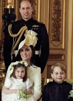 The Cambridge Family - Duke and Duchess of Cambridge, Prince George of Cambridge, and Princess Charlotte of Cambridge