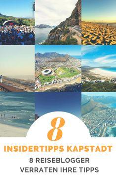 In diesem Artikel findest du eine geballte Ladung an Insider Tipps für Kapstadt und Umgebung. 8 Reiseblogger verraten hier die Highlights in und um Kapstadt und geben Empfehlungen wie lange man für einen Aufenthalt in Kapstadt Südafrika einplanen sollte.