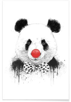 Clown Panda of Balázs Solti now on JUNIQE!