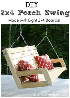DIY 2x4 Porch Swing - Learn how to make a porch sw…