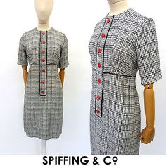 Vintage #1970s jean #varon dress 12 m john bates #designer shift hearts mod party,  View more on the LINK: 	http://www.zeppy.io/product/gb/2/161965778443/