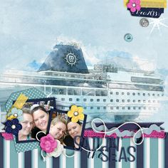 Kit: Seas the day - Jennifer Labre Template: June SO Challenge - Scrapping with Liz Font: KG All things new
