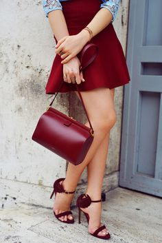 Red oxblood inspiration for Saturday night.