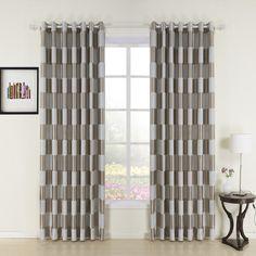 Plaid Check Jacquard Polyester Room Darkening Curtain  #curtains #homedecor #decor #homeinterior #interior #design #custommade