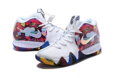 "f47beffd81df0e Nike Kyrie 4 ""Madness NCAA"" White Multi-Color Men s Size – With Sneaker"