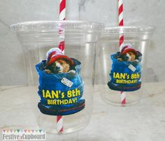 Paddington Bear Birthday Party Cups Favors 8pc by FestiveCupboard