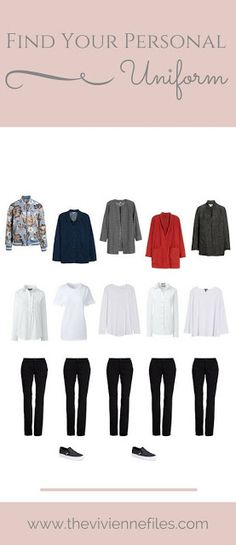 The Easiest Way to Get Dressed? Find Your Personal Uniform! How to build a capsule wardrobe from one look.