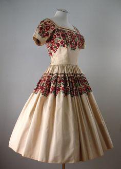 Vintage 50s Dress ANNE FOGARTY Full Skirt Small bust 36 - sweet!