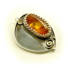 Next to the river  Baltic amber insect pendant / by Ankanate