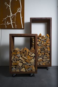 Firewood Rack & Best Storage Ideas In Backyard 03 Outdoor Firewood Rack, Firewood Holder, Firewood Storage, Outdoor Storage, Into The Woods, Wood Holder For Fireplace, Wood Stove Surround, Log Holder, Modern Fireplace