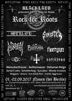 Rock for Roots 1./2.9.2017 Nauen bei Berlin Deathmetal, Thrashmetal etc.