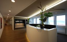 Corporate office - Reception  design by Swiss Bureau Interior Design LLC