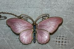 Marius-Hammer-930-silver-and-guilloche-enamel-butterfly-Large-Pink