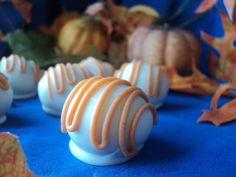 6 PUMPKIN SPICE CAKE Balls gift happy birthday wedding congrats engagement thinking about you get well I'm sorry halloween fall thanksgiving