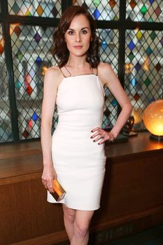 UK actress Michelle Dockery wearing our Panzano Bangle at the Downton Abbey wrap party!