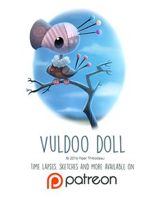 Day 1436. Vuldoo Doll by Cryptid-Creations.deviantart.com on @DeviantArt