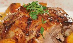 Συνταγή: Χοιρινό με μέλι, μουστάρδα, πορτοκάλι και μελωμένες πατάτες (Μπαρμπαρίγου) « Συνταγές με κέφι