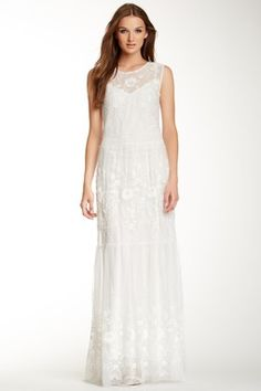 Rachel Zoe Dane Embroidered Maxi Dress -   - Scoop neck - Sleeveless - Keyhole back closure - Sheer embroidered overlay - Fully lined