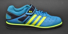 Adidas PowerLift Trainer Sharp Blue & Slime - love the color!
