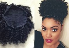 59 Best Afro Puff Ponytail Images Natural Hair Puff Ponytail