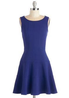 Prized Panelist Dress in Cobalt. The house is packed to hear you lend your expertise to todays panel, and this cobalt-blue dress by Closet proves a smart accompaniment. #blue #modcloth