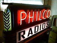 Philco Radios Porcelain Neon Sign