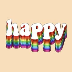 happy quotes & happy quote happiness rainbow love positivity happiness quotes smile laugh great inspirational positive inspired red orange yellow green blue indigo violet brown white retro vintage aesthetic vibes feels - most beautiful quotes ideas Smile Quotes, New Quotes, Words Quotes, Inspirational Quotes, Sayings, Qoutes, Happy Love, Happy Smile, Smile Smile