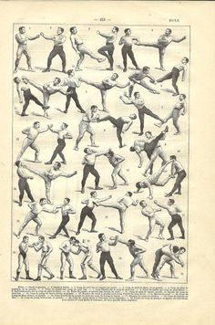 1908 French sport dictionary boxing illustration