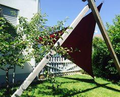 #garten #apfelbaum #sonnensegel Mit unseren Produkten werden Gartenträume wahr.