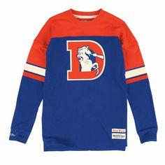 a5867145d Denver Broncos Mitchell & Ness Pump Long Sleeve Crew Shirt Denver Broncos,  Nfl Shirts,