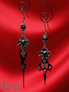 Art of Adornment (www.artofadornment.ca) - Nocturne Steampunk Clock Hand Earrings