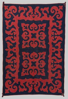 Grogan and Company | INLAID FELT RUG, Kirgiz, first half 19th century; 6 ft. 3 in. x 4 ft. 3 in.
