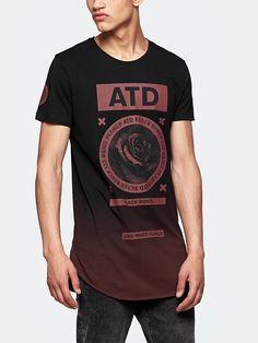 print T-shirt darkred
