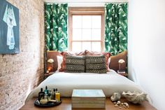 ... you have a small home doesn't mean you should shy away from statement pieces and dramatic colors. Even though this room is barely big enough for the bed ...