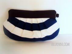 Sailor striped clutch