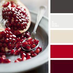 beige, beige y turquesa, color burdeos, color escarlata, color granate, color grano de granada, color rojo oscuro, colores de la granada, combinaciones de colores, el color granate, gris y beige, rojo oscuro, rojo y beige, tonos beige, tonos burdeos, tonos rojos.