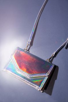 Deena & Ozzy Michelle Holographic Mini Bag #urbanoutfitters