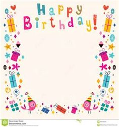 The 42 best greeting card boarders images on pinterest baby happy birthday page borders frames free bing images birthday frames happy birthday frame m4hsunfo