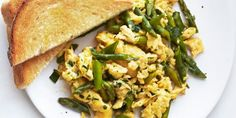 Asparagus, Mint, and Parmesan Scramblecountryliving