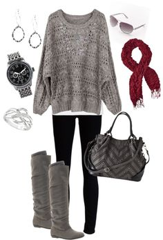 """comfy winter /fall outfit"" by kristie-kevin-hammond on Polyvore"