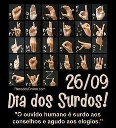 Dia  dos  Sordos !  alfabeto español,  lenguaje de señas...