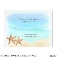Beach Theme RSVP Cards