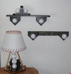 Cute lamp shade!  Baseball bedroom collection includes lamp by Midwestclassiccrafts, $139.95
