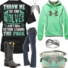 Throw Me To The Wolves And I Will Return Leading The Pack Outfit - Real Country Ladies