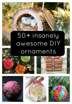insanely awesome DIY ornaments by KaleighS Christmas Ornaments To Make, Homemade Christmas, Christmas Projects, Diy Ornaments, Holiday Crafts, Holiday Fun, Christmas Holidays, Christmas Decorations, Christmas Ideas