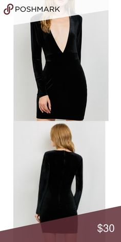 """Low Cut, Velvet Bodycon Dress🖤 100% polyester, velvet feel. Super cute for Valentine's Day! Measurements are approximate.                                                      Medium: 33.86"""" bust, 32.68"""" long.                          Large: 35.43"""" bust, 33.07"""" long.                             Extra Large: 37.01"""" bust, 33.49"""" long. Dresses Mini"""